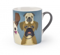 ''The Rabble'' Dog China Mug By Burgon & Ball